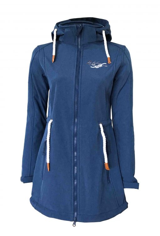 """Sydney Coat"" Women´s Melange Softshell-Coat navy"