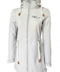 """Sydney Coat"" Women´s Melange Softshell-Coat white"