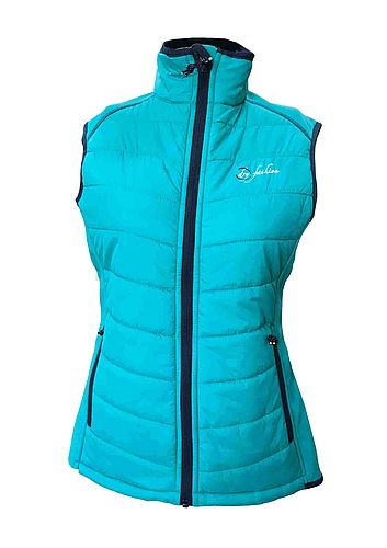 Damen Hybrid-Weste sea green
