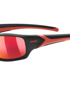 uvex sportstyle 211 pola - black-red