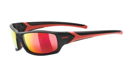 uvex sportstyle 211 pola - black/red