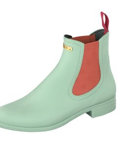 Gosch Shoes Sylt Women Shoes Rubber Chelsea Boots Mint Green