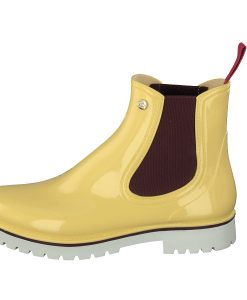 Gosch Shoes Sylt Women's Chelsea Rubber Leisure Rain Beach Boots Yellow