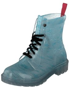 Gosch Shoes Sylt Women's Shoes Leisure Walk Lace-up Rubber Beach Rain Boots Transparent Turquoise