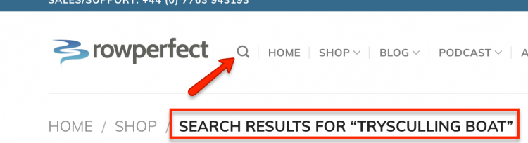 Rowperfect search