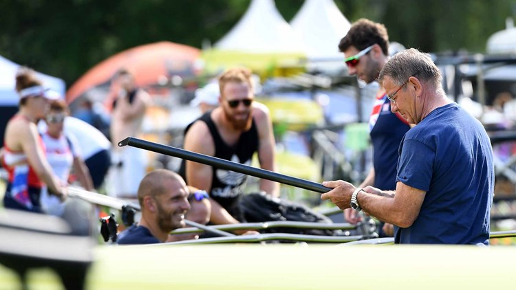 Gröbler Goldtrainer von Britisch Rowing