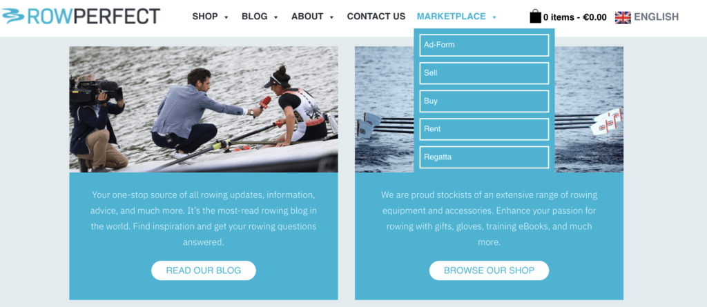 Our Marketplace for Boats and Rowing Equipment